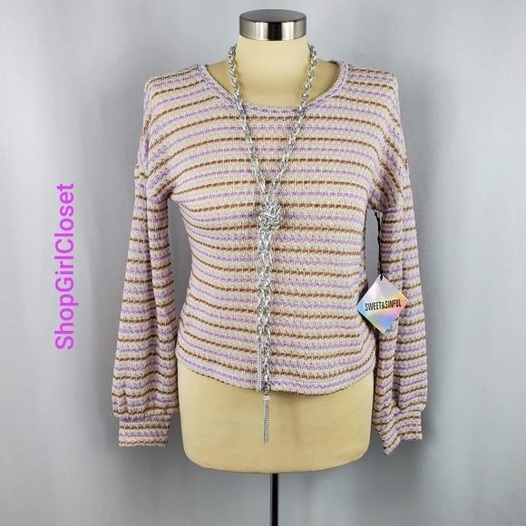 💥Just In💥Sweet & Sinful Crop Sweater..Sz M Jr